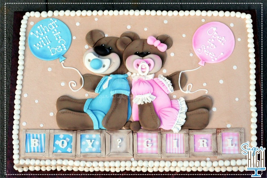 Gender Reveal Cake Baby Reveal Cake on Cake Central