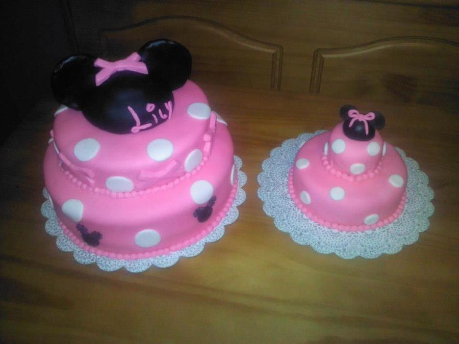 Minnie Mouse Cake With Matching Smash Cake on Cake Central