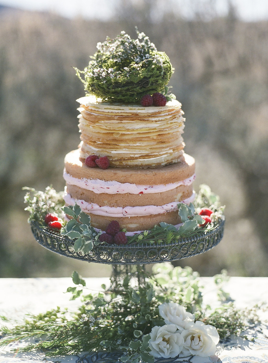 Cake Decorating With Swiss Buttercream : Naked Cake Crepe Cake Filled With Fresh Raspberry Swiss ...