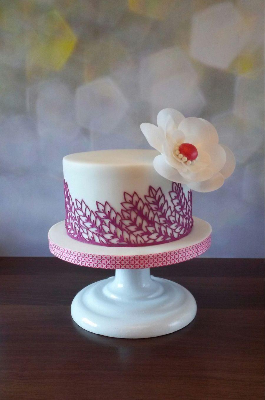 Wafer Paper Flower Cake Cakecentral