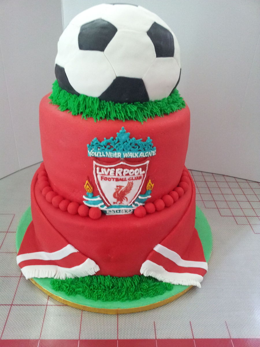 Liverpool Cake Front on Cake Central