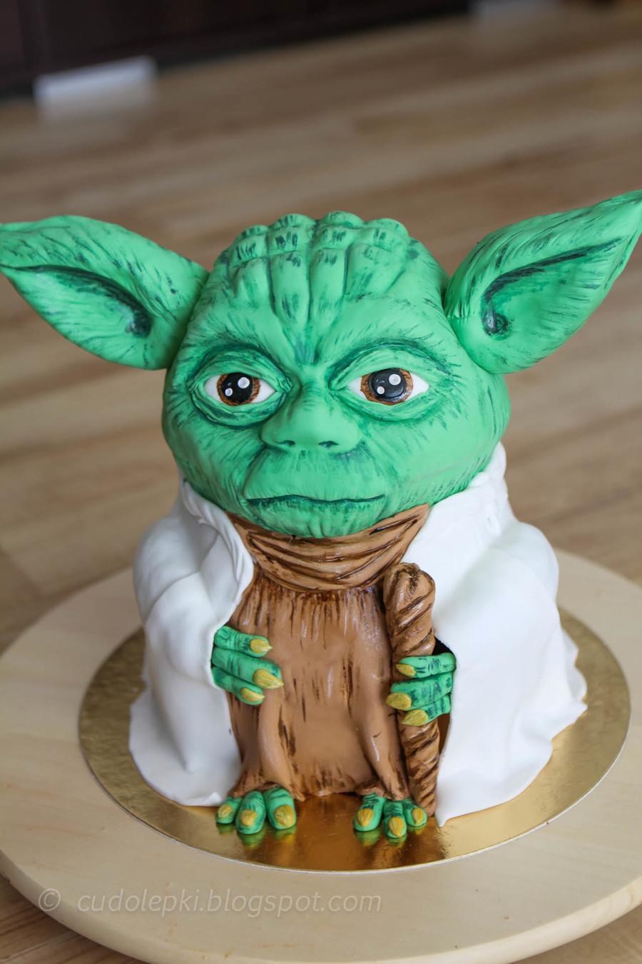 Yoda 3d Cake Tutorial Pl Cakecentral Com