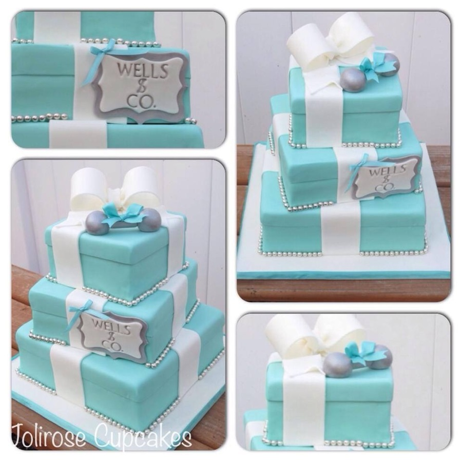 Tiffany And Co Baby Shower Cake