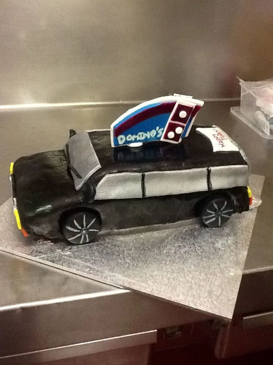 Stationwagon Themed Cake With A Dominos Pizza Logo For A 50 Th