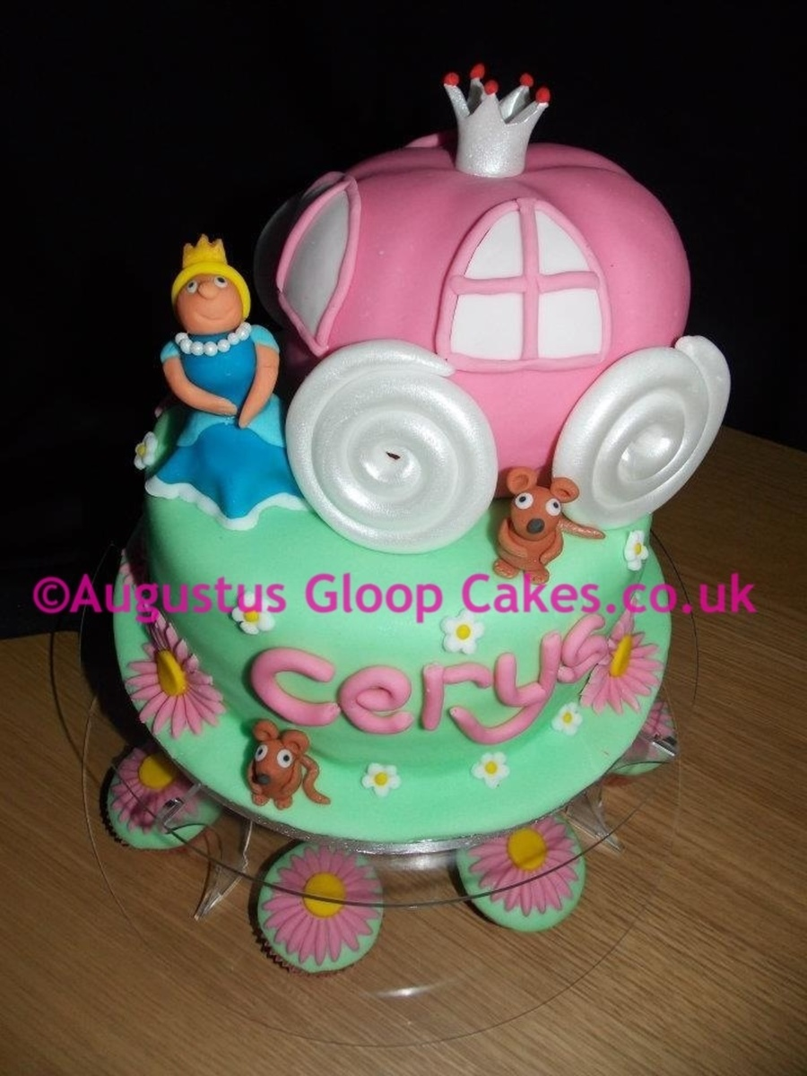 Disney Princess Cinderella Carriage Cake And Figures CakeCentralcom