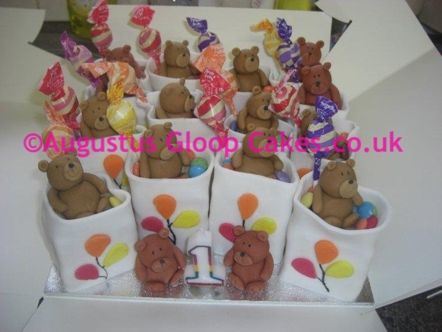 Individual Teddy Bear Cakes With Lollies on Cake Central