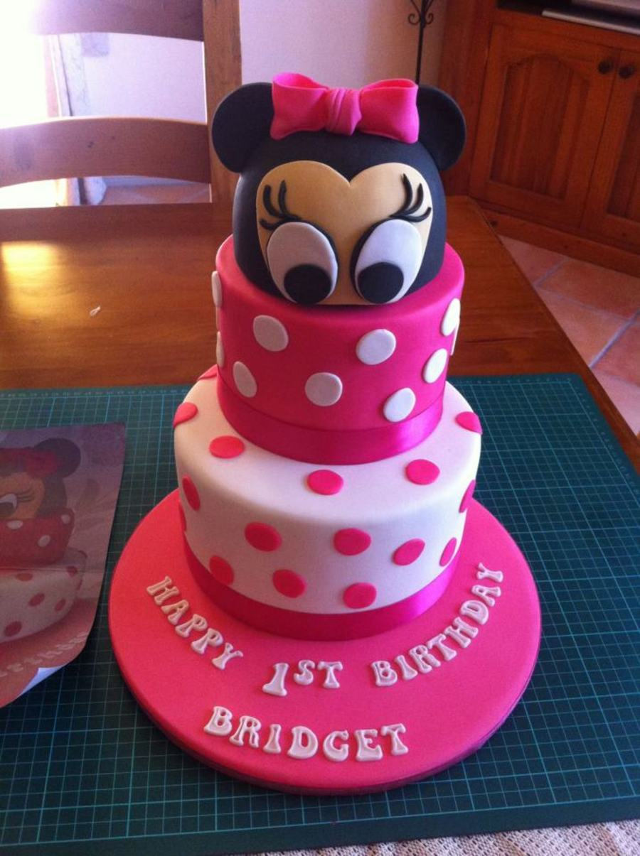 This Is A Mini Mouse Cake The Inside Is Hot Pink With Chocolate Ganache Then Covered In Fondant on Cake Central