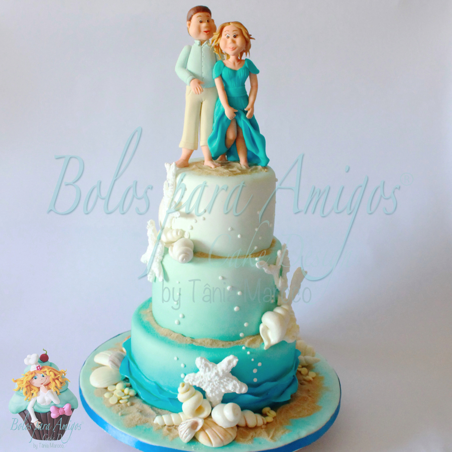 Beach wedding cake cakecentral beach wedding cake on cake central junglespirit Choice Image