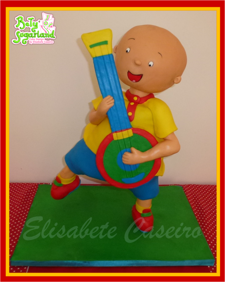 Caillou Standing On One Leg Cake Cakecentral Com