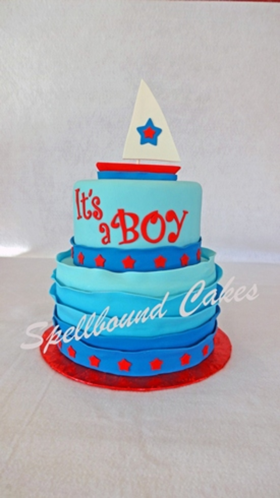 Sailboat Baby Shower Cake Cakecentral Com
