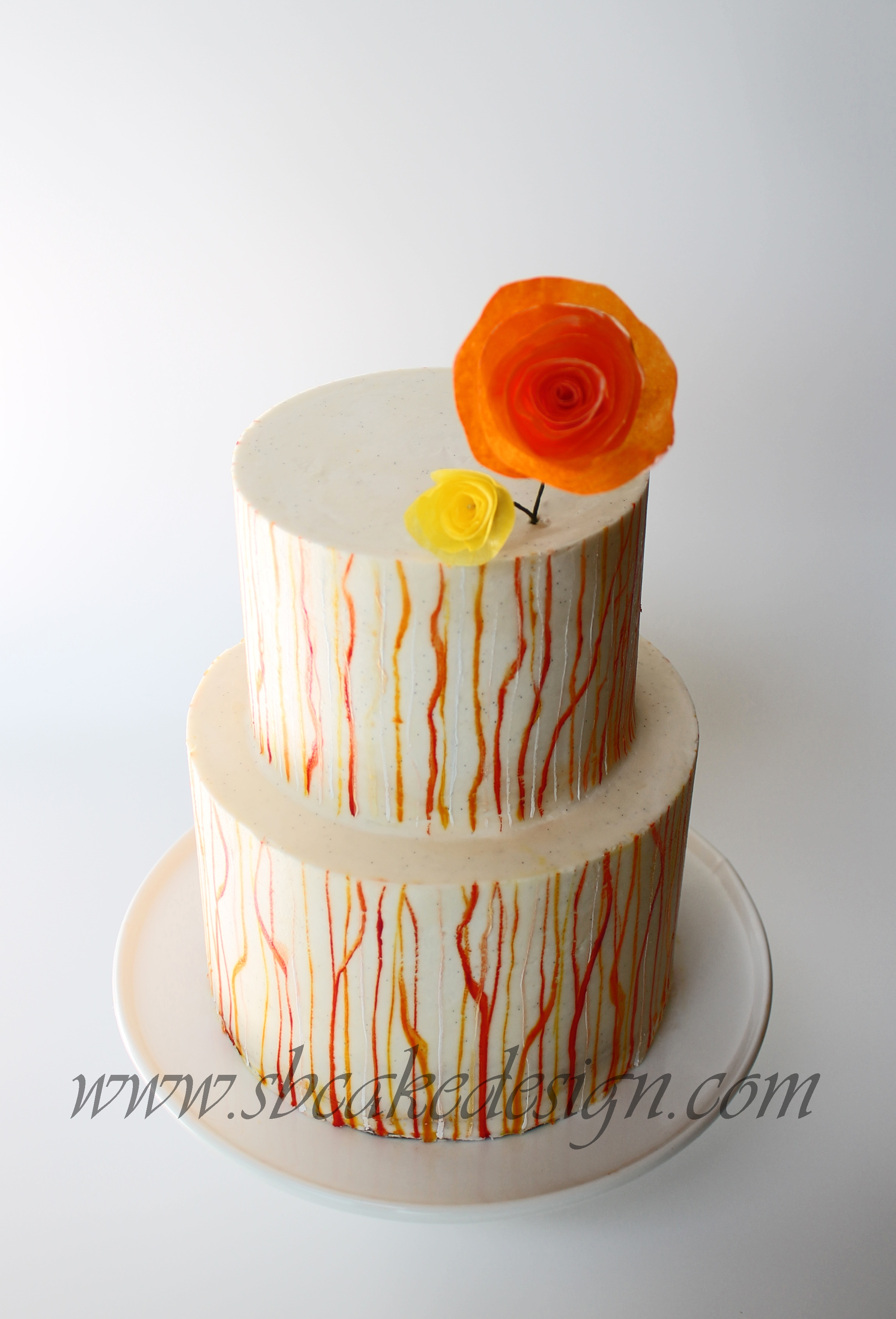 Modern Painted Buttercream Cake CakeCentral