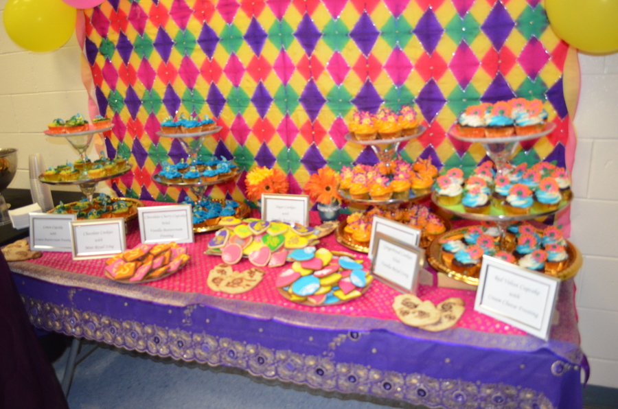 Mehndi Cake Table : Dessert table setup made for my sisters mehndi an