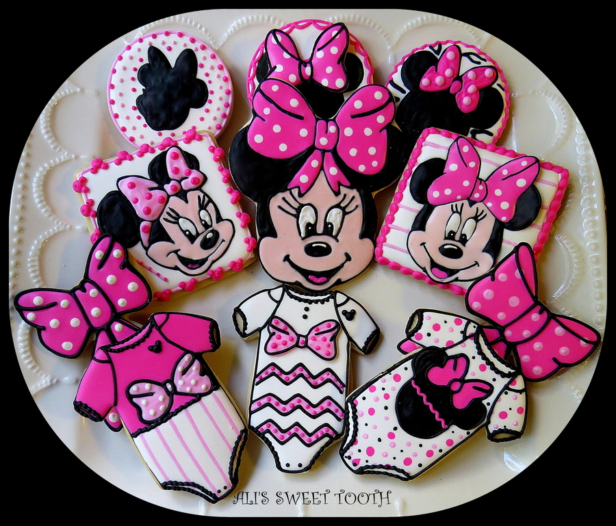 Minnie Mouse Baby Shower Cookies Cakecentral Com