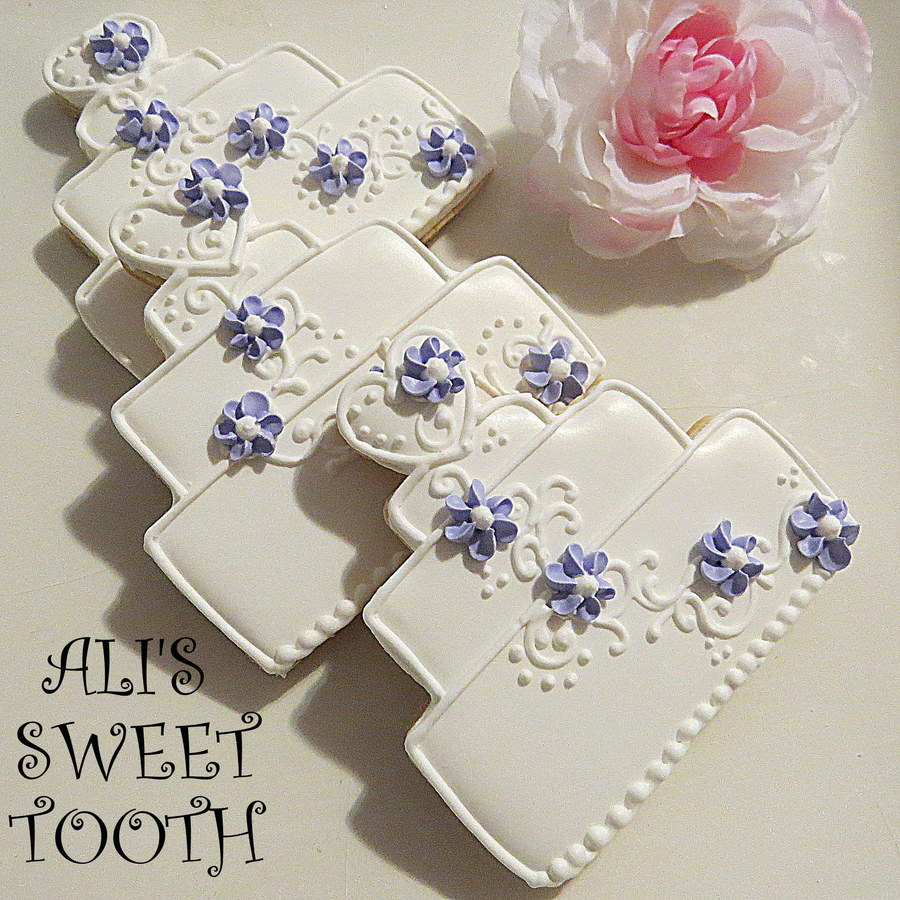 wedding cake cookie favors wedding favor cookies cakecentral 22237