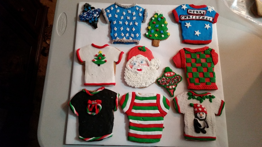 Some Of This Years Christmas Cookies Some I Used Royal Icing And Some I Used Fondant on Cake Central