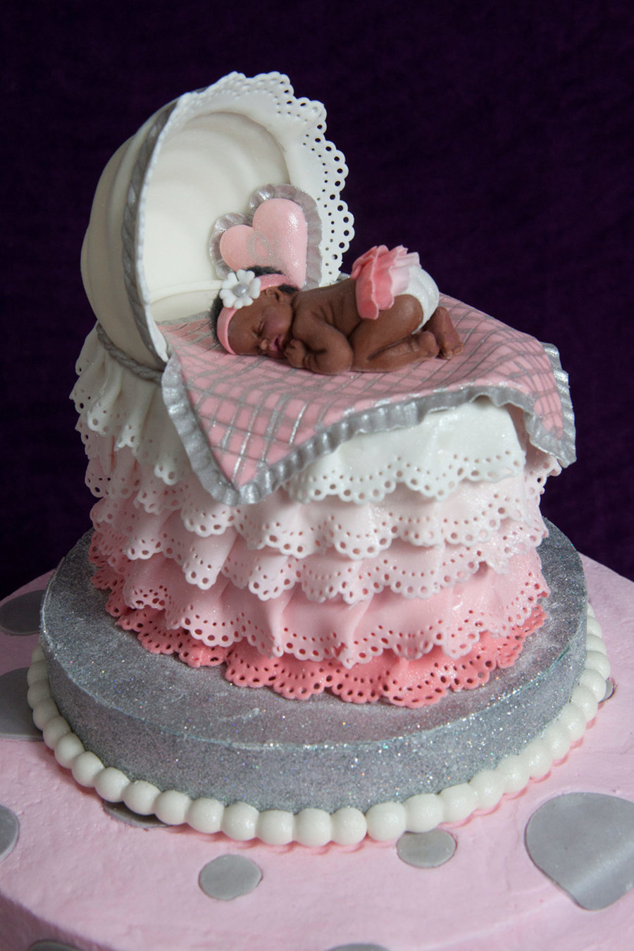 How To Make A Baby Bassinet Cake Topper