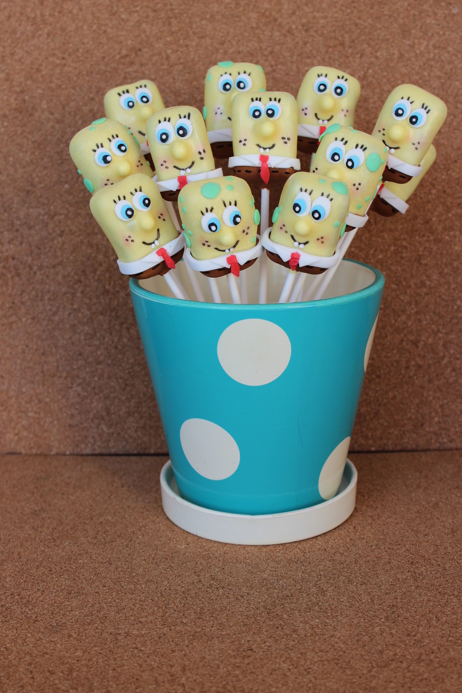 Sponge Bob Cake And Cake Pops For A Sweet Boy on Cake Central