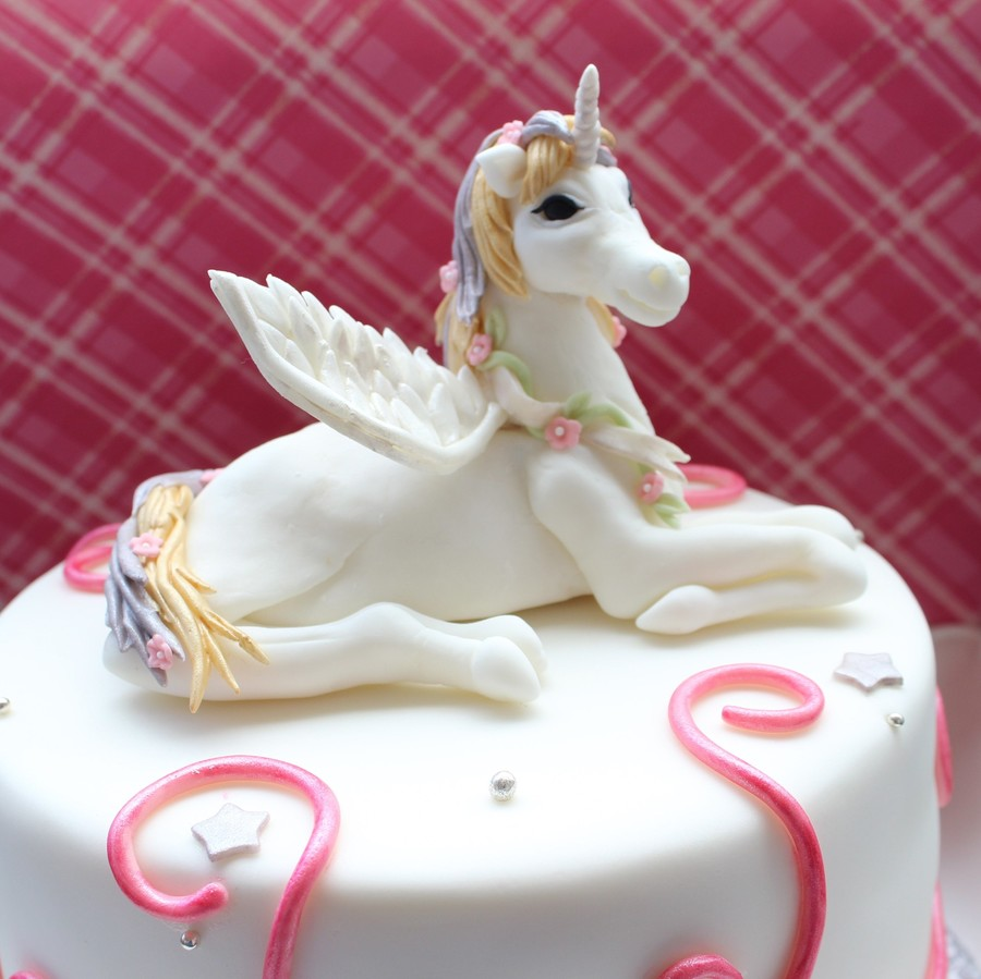 Unicorn Cake For A Sweet Little Girl Cakecentral Com