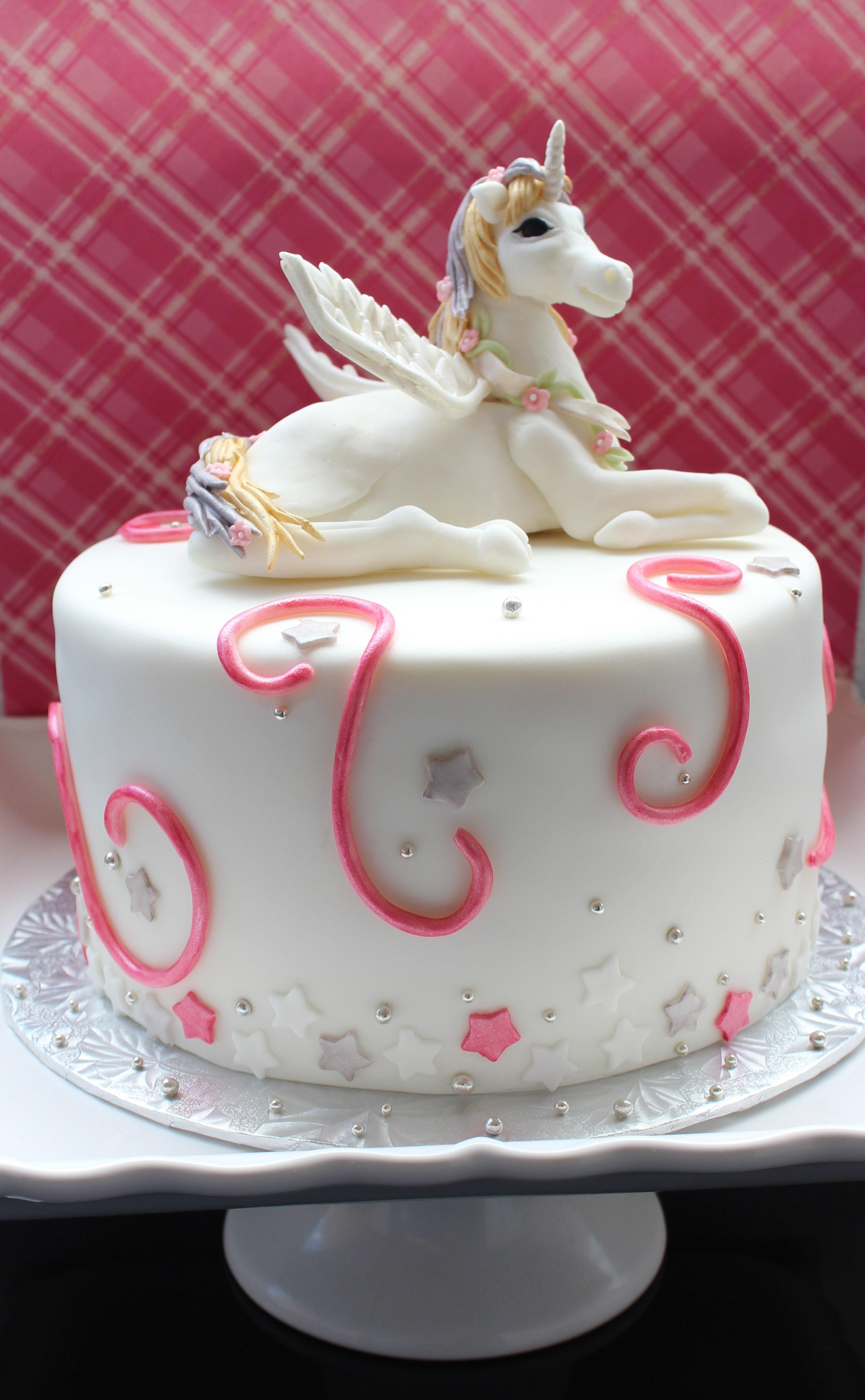 Unicorn Cake For A Sweet Little Girl Cakecentral Com