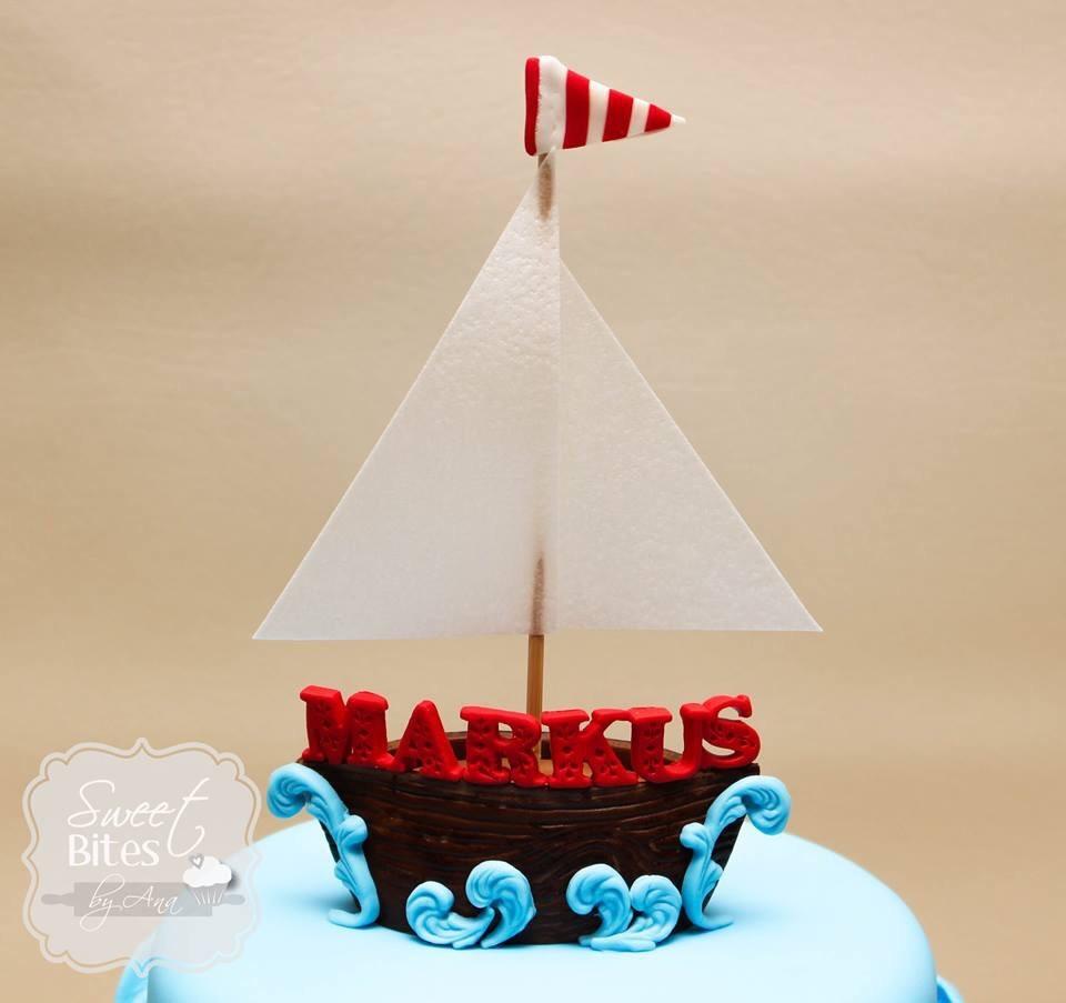 Nautical Themed First Birthday Cake