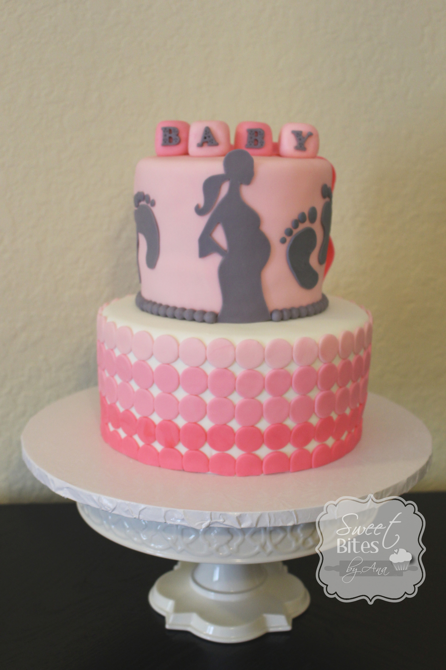 Pink Ombre Baby Shower Cake Cakecentral Com