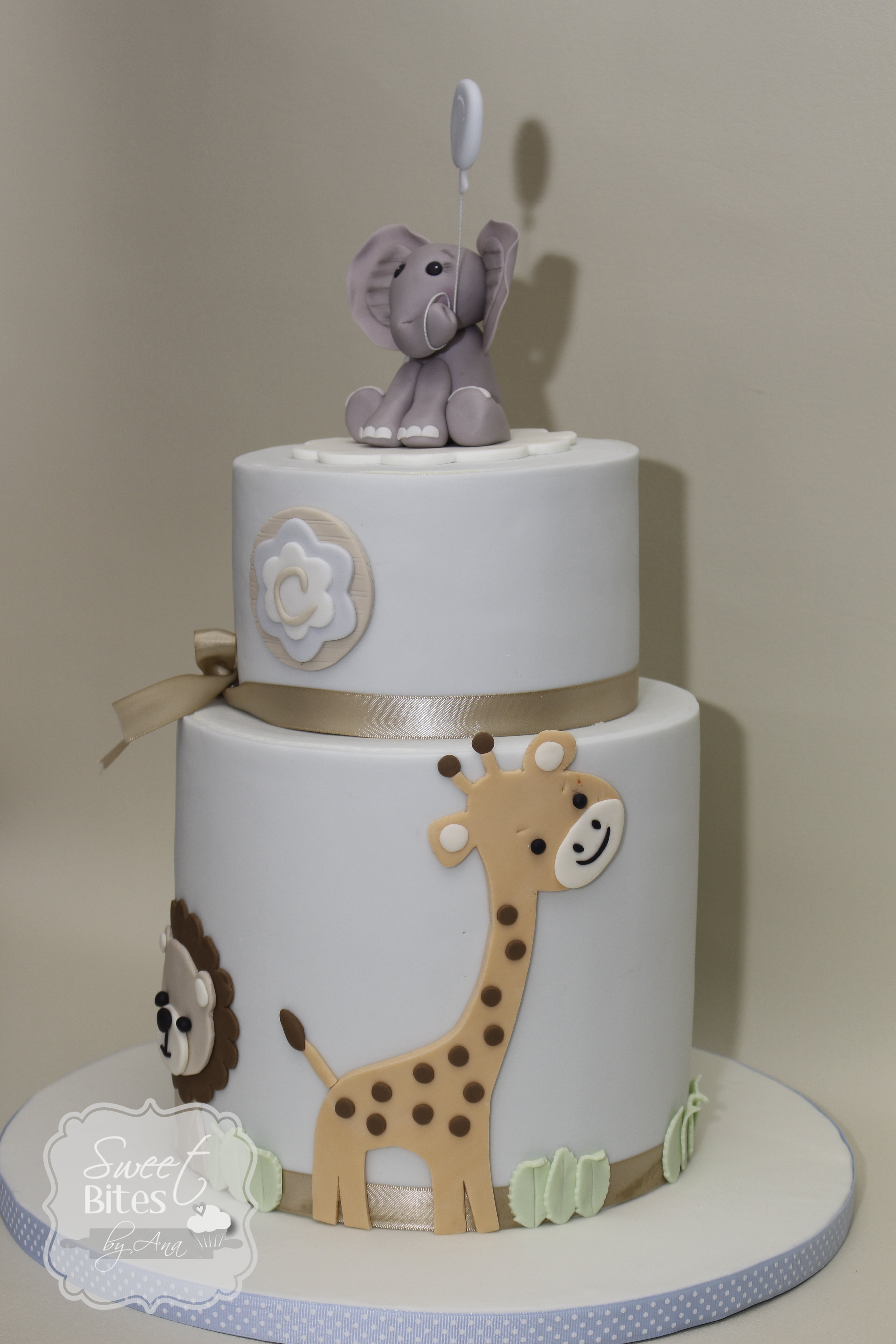 animal theme boy baby shower cake
