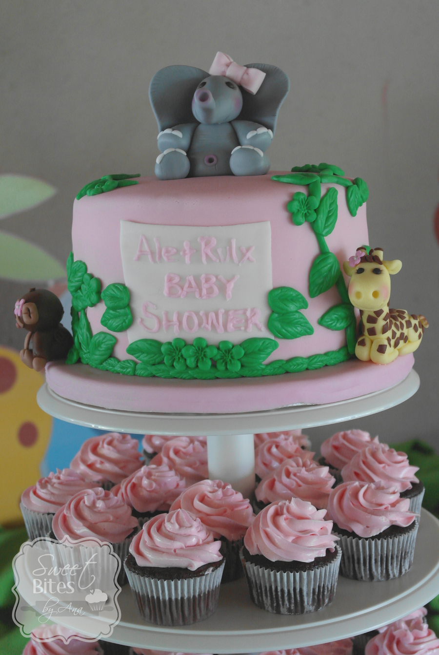 Jungle Theme Girl Baby Shower Cake Cakecentral Com