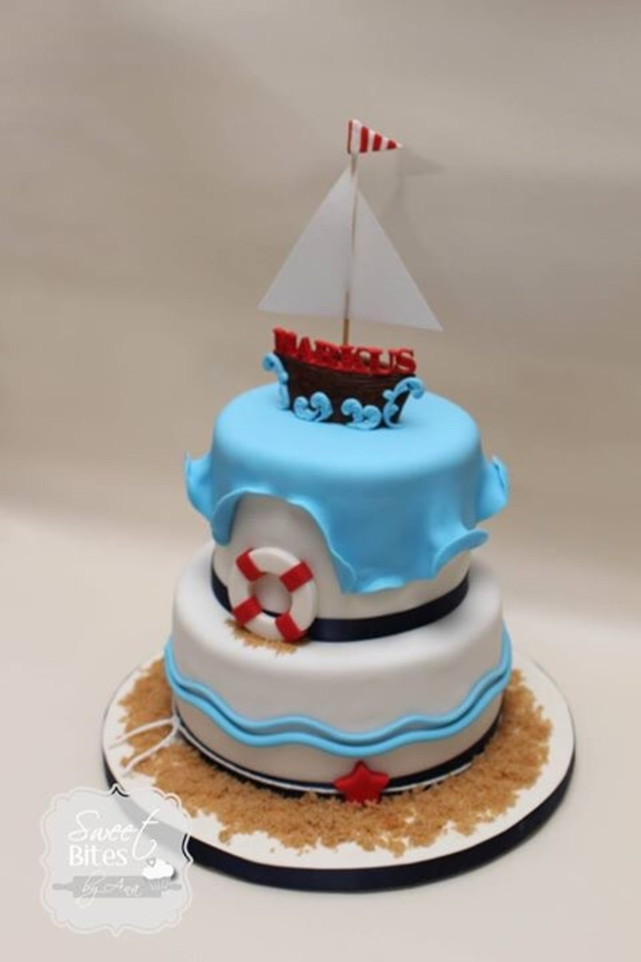 Nautical Themed First Birthday Cake Cakecentral Com