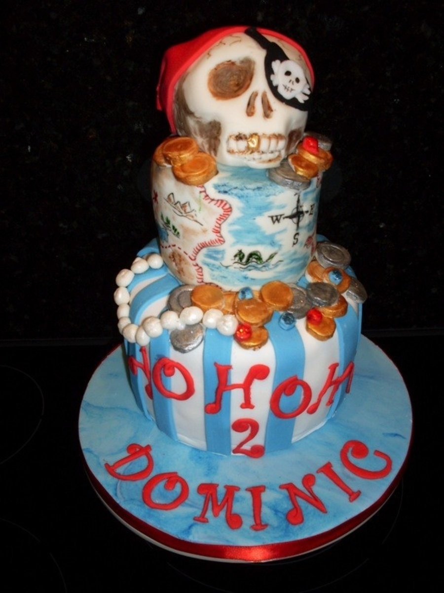 Pirate Cake With Handpainted Details on Cake Central