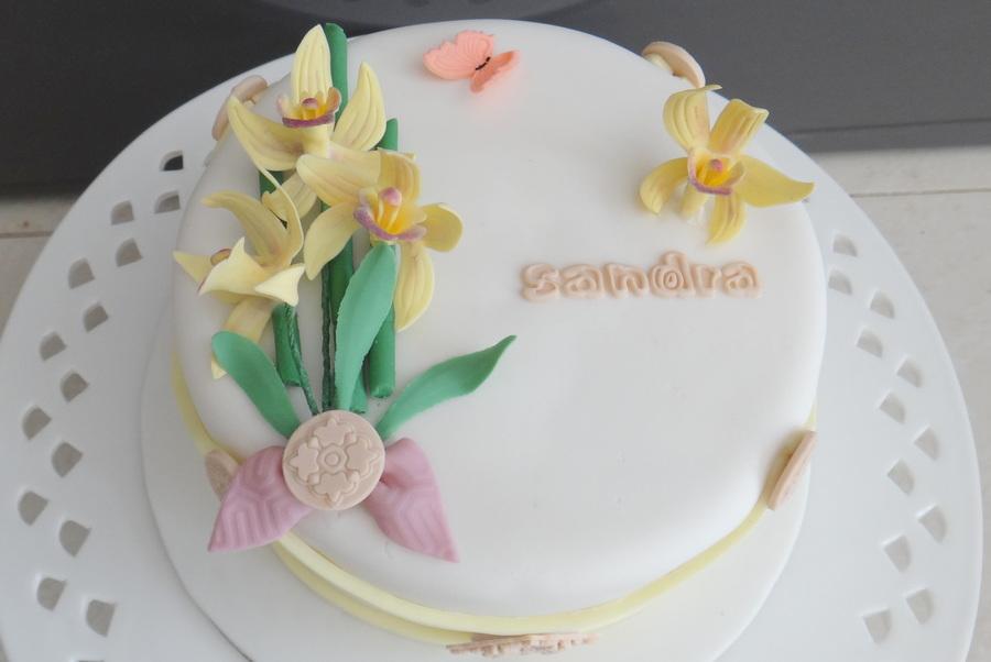 Mini Cymbidium Birthday Cake For One Of My Best Friends