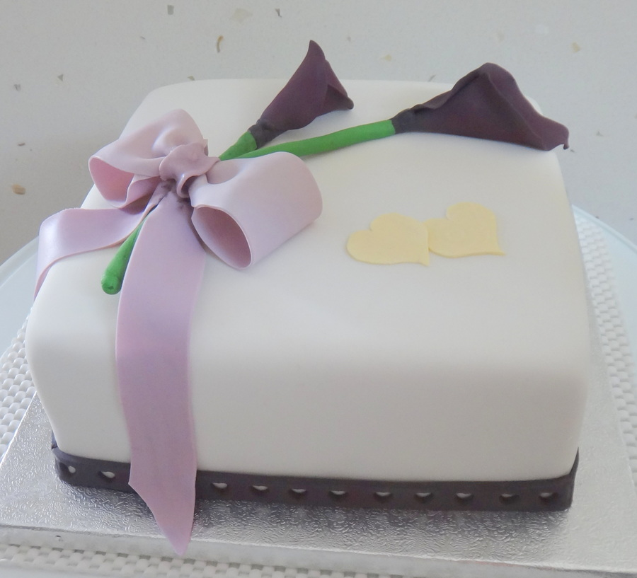 A Simple Wedding Cake Designed By The Bride And Her Mother Featuring