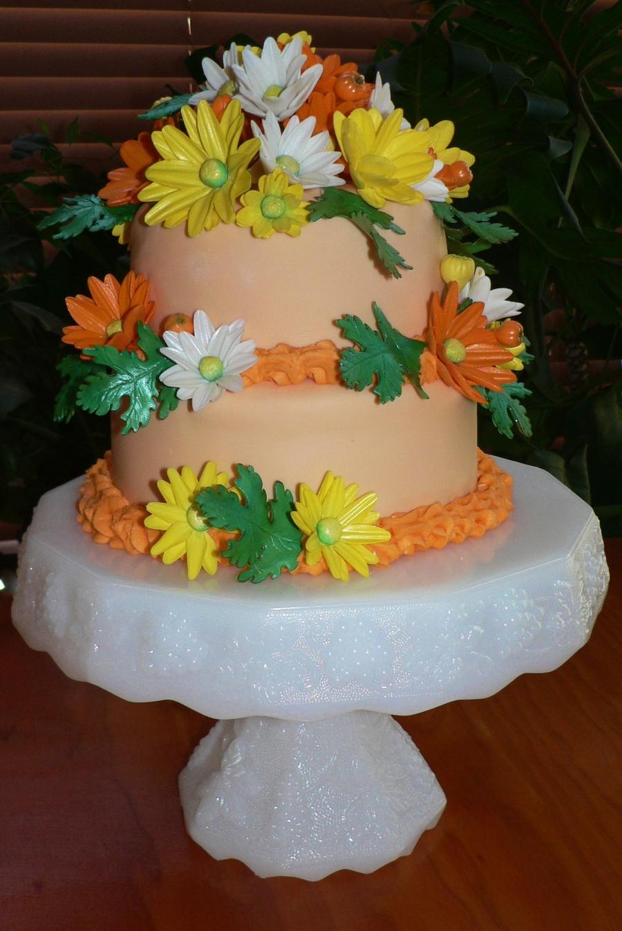 Daisy flower birthday cake cakecentral izmirmasajfo