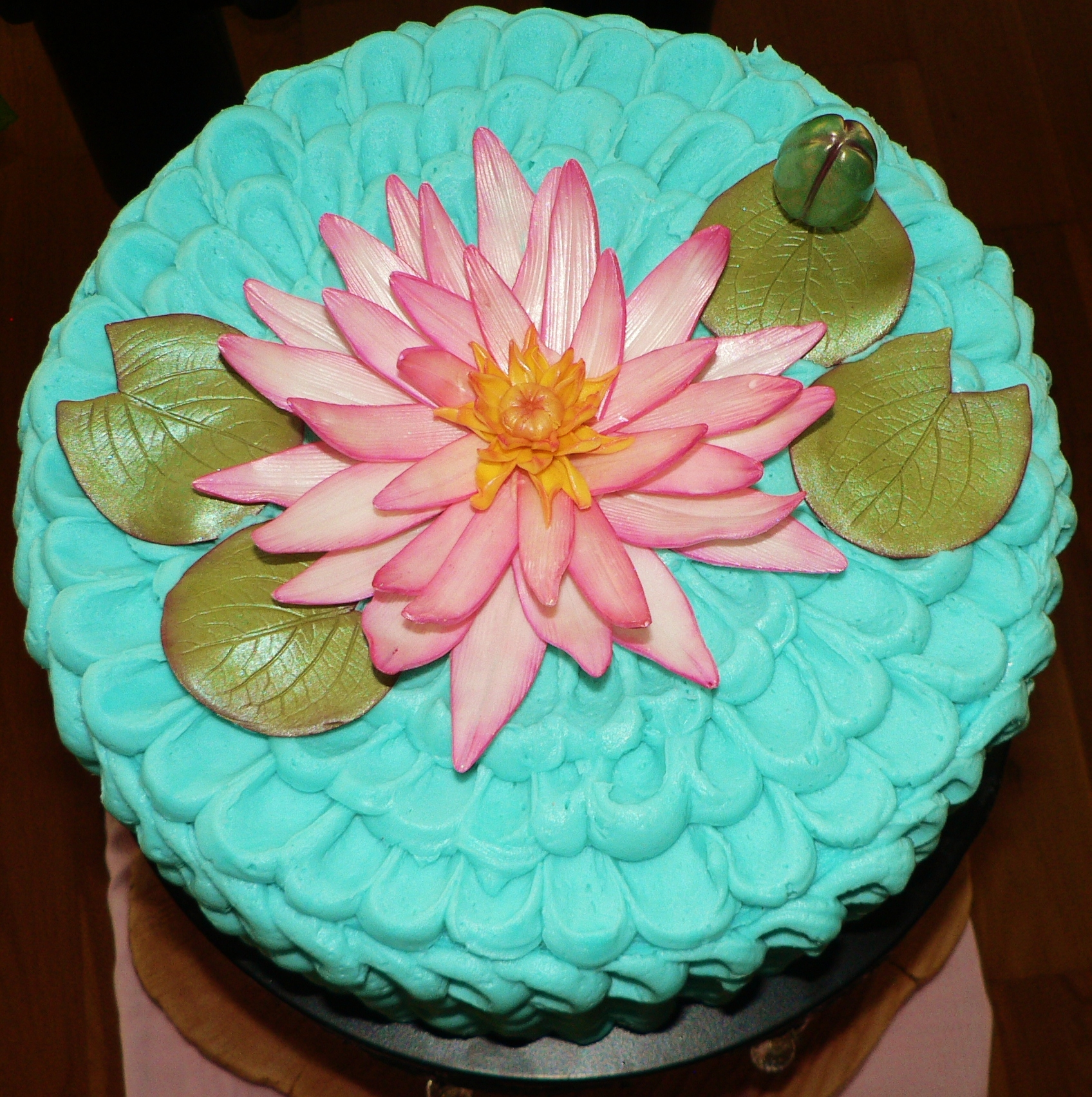 Red Lotus Cake Design : Lotus Flower Birthday Cake! - CakeCentral.com