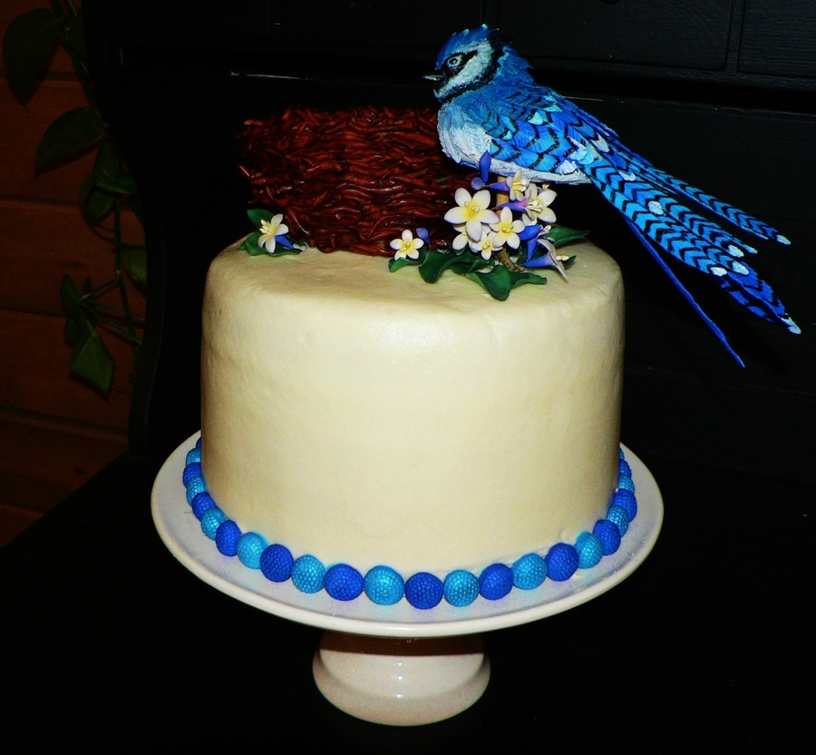 Images Of Blue Birthday Cake : Blue Jay Birthday Cake - CakeCentral.com