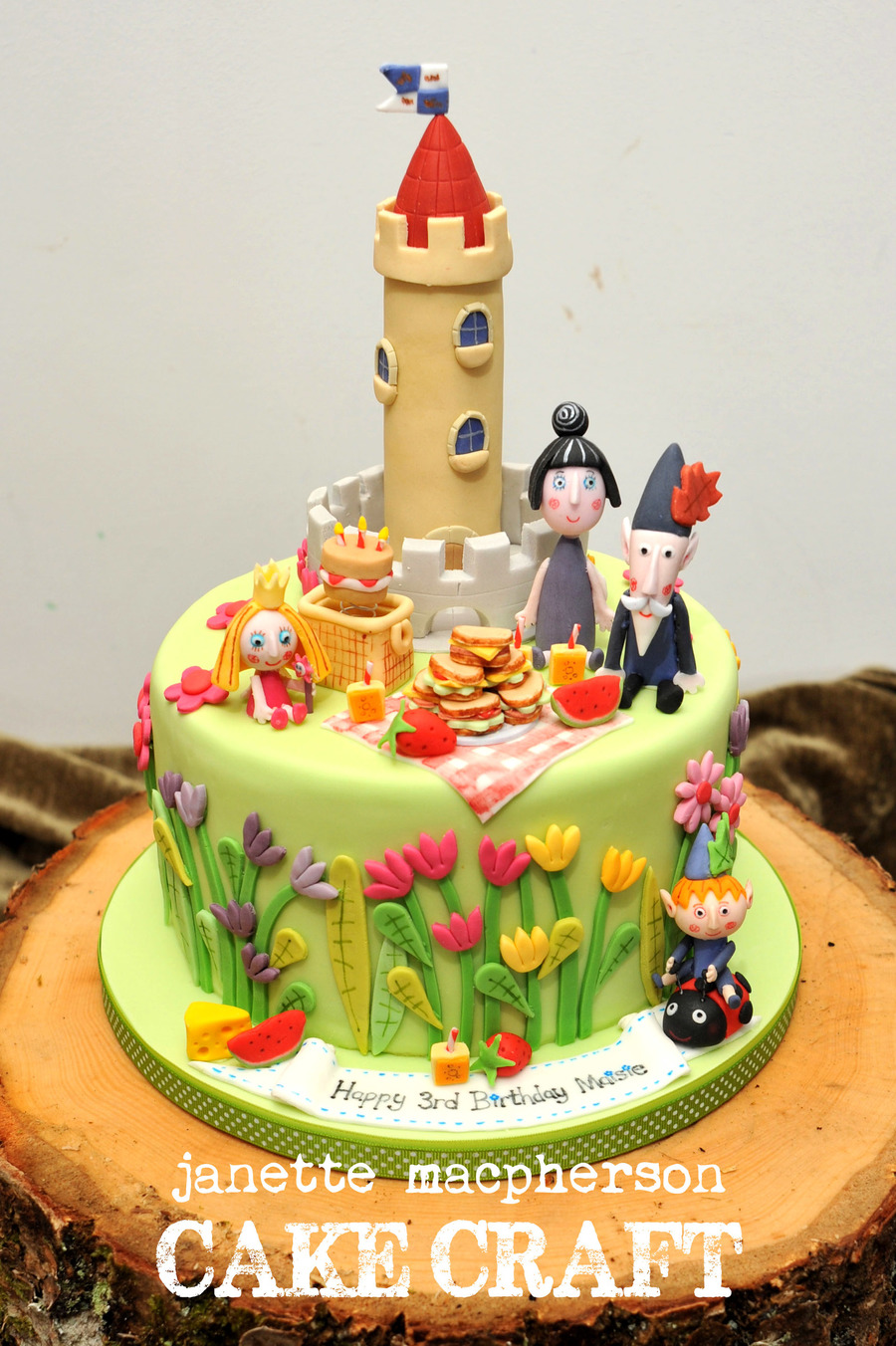 Holly Birthday Cake