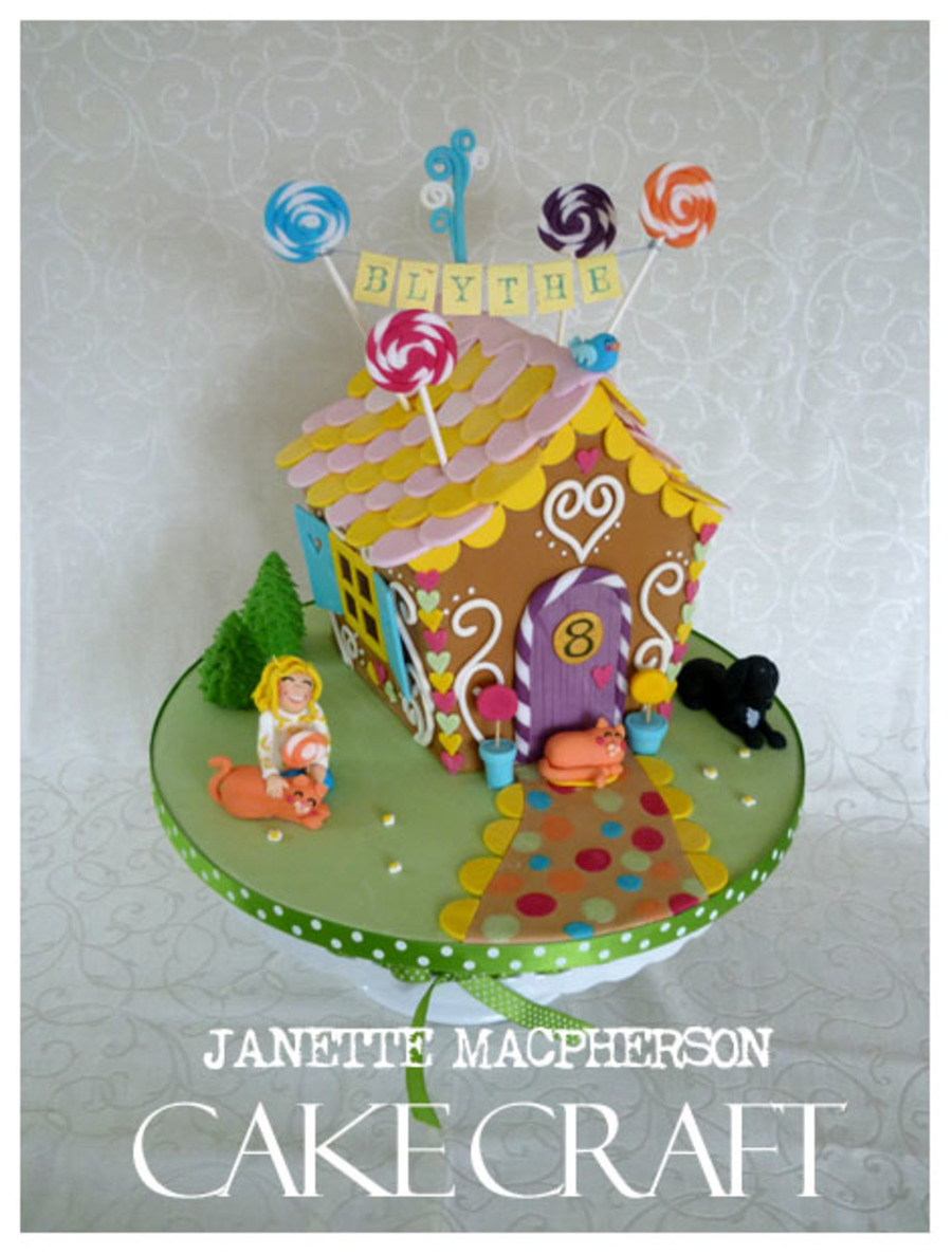Pleasant Gingerbread House Style Birthday Cake Sponge Cake Covered And Funny Birthday Cards Online Hetedamsfinfo