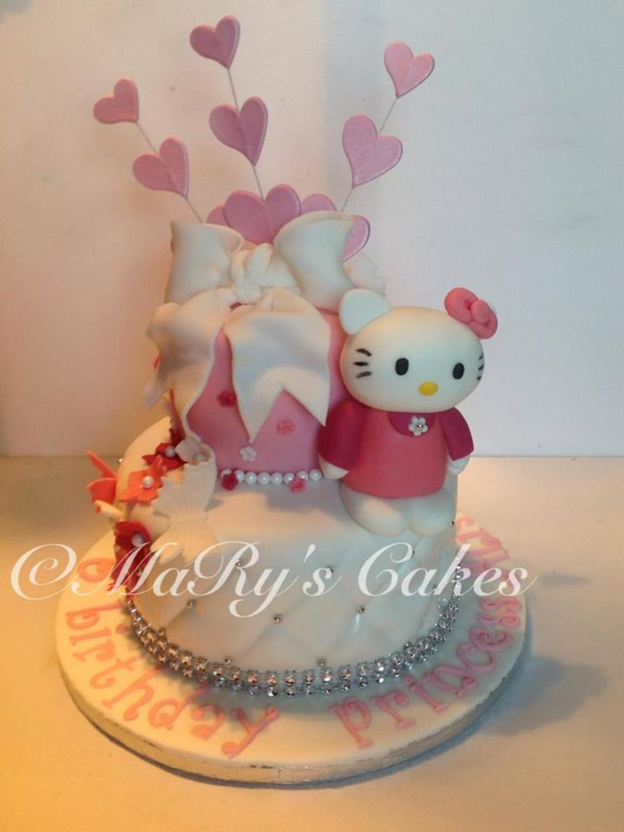 My Second Hello Kitty Cake Princess Theme - CakeCentral.com