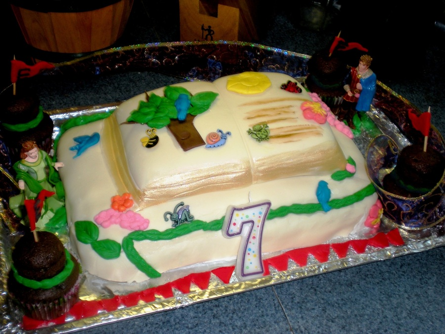 Story Book Cake Made Two Layer Cake Using Wilton Fondant