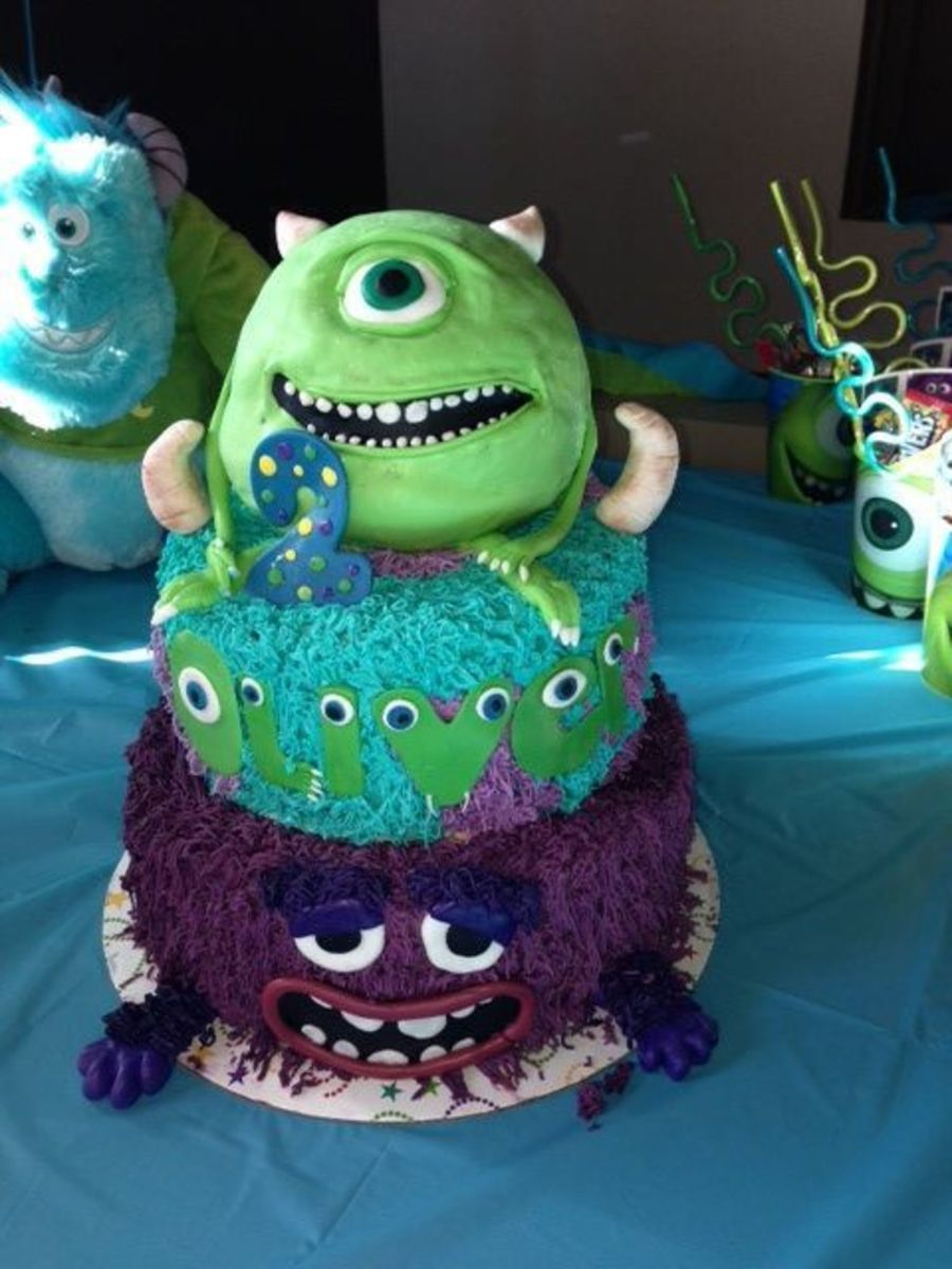 Super Monsters University Cake For Boy Birthday Cakecentral Com Personalised Birthday Cards Epsylily Jamesorg