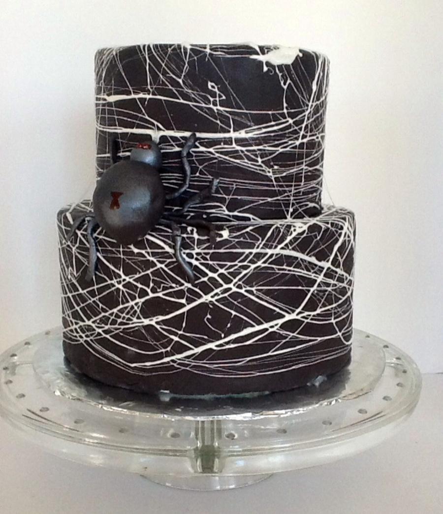 Marshmallow Spider Web Cake
