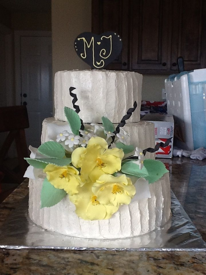 My First Ever Wedding Cake Each Tier Is A Different Flavor Coconut ...