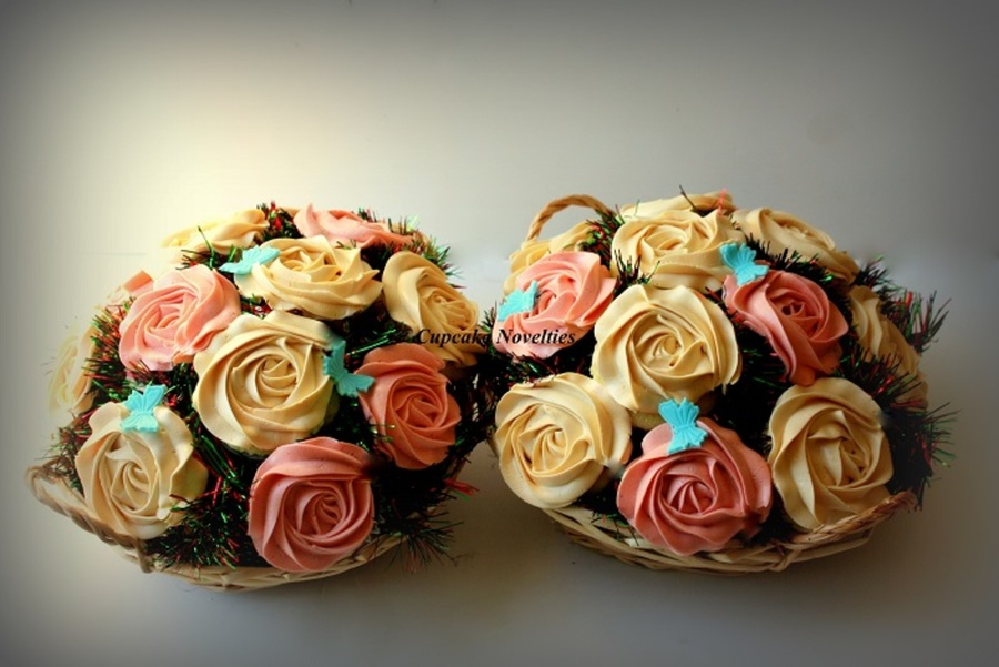 Cupcake Bouquets With Salted Caramel Buttercream Roses Amp ...