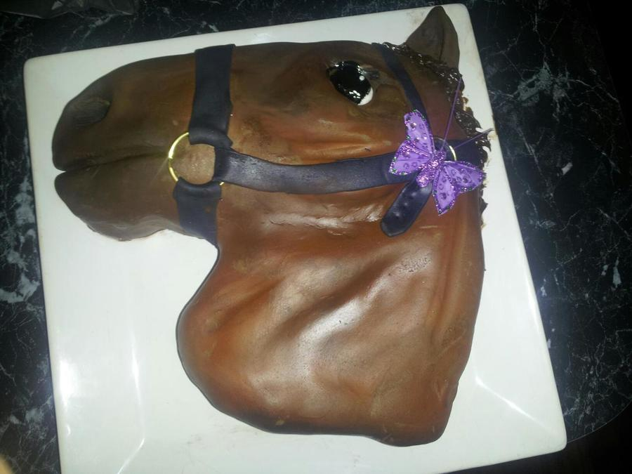 Horse Shaped Cake For My Sil 22Nd Birthday My Very First Fondant Cake on Cake Central