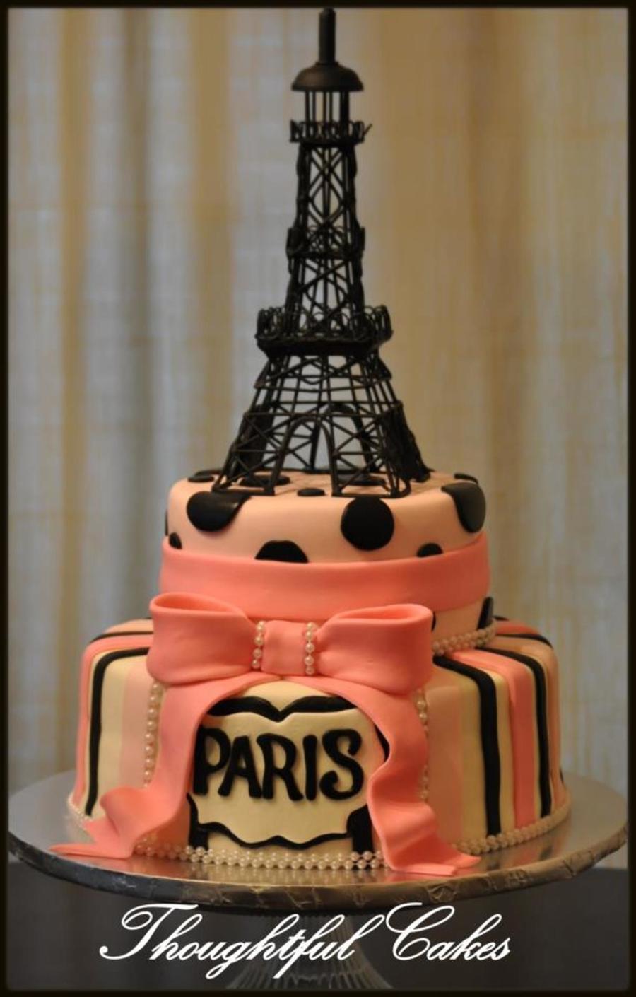 Paris Eiffel Tower Birthday Cake On Cake Central