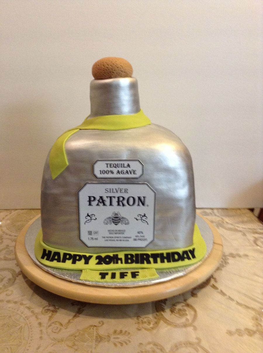 Patron Bottle Birthday Cake The Bottle Is All Cake The Cork Is - Patron birthday cake
