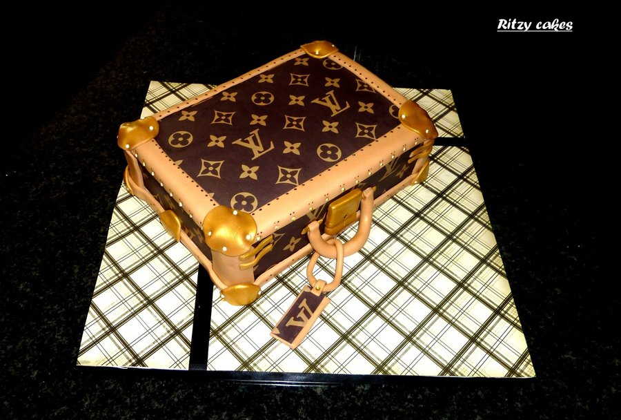 Louis Vuitton Suitcase Cake on Cake Central