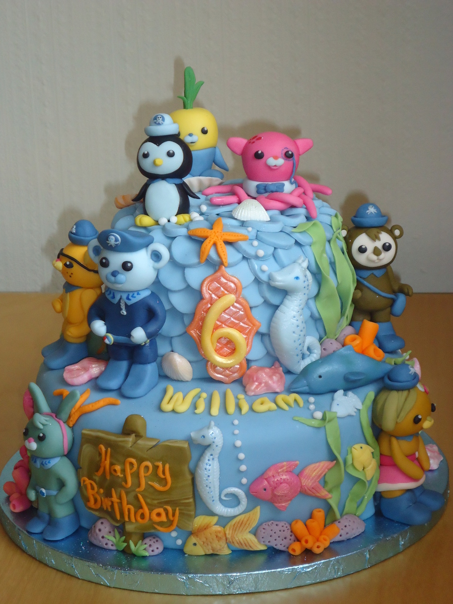 Octonauts Birthday Cake Chocolate Fudge Cake With Chocolate Ganache