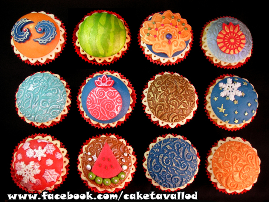 Yalda Night Cupcakes Yalda Night Is A Traditional Iranian Celebration Of The Longest Night Of The Year In The Northern Hemisphere Which on Cake Central