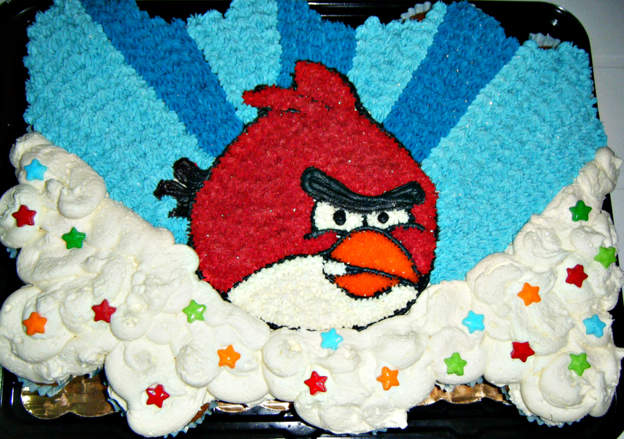 Angry Birds Pull Apart Cupcake Cake For A Bday