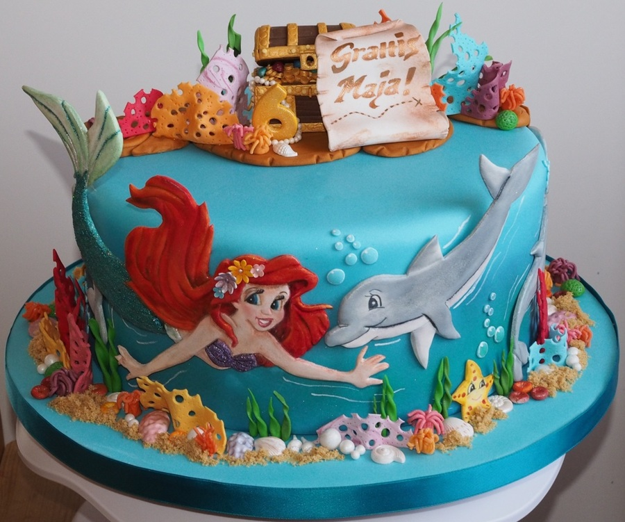 My Daughter Wanted A Cake With Ariel Dolphins And A